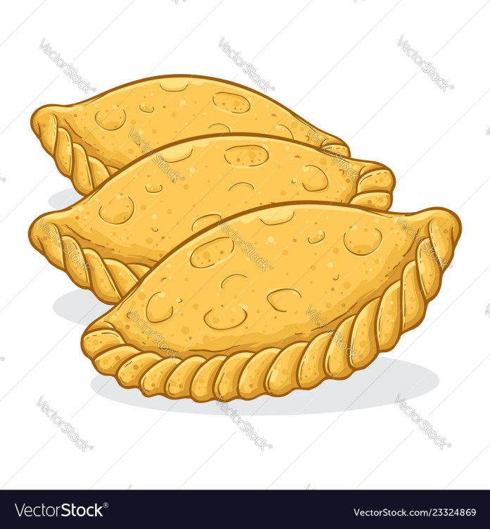 Kue Pastel Indonesian Traditional Food Royalty Free Vector