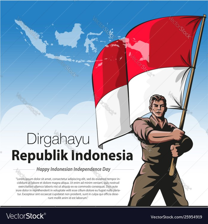 Happy Indonesian Independence Day Royalty Free Vector Image