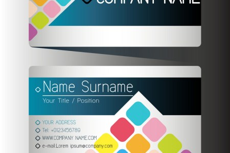 A front and back business card Royalty Free Vector Image A front and back business card vector image