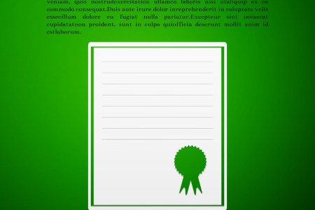 Certificate template flat icon on green background Certificate template flat icon on green background vector image