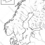 Map The Scandinavian Lands Scandinavia Royalty Free Vector