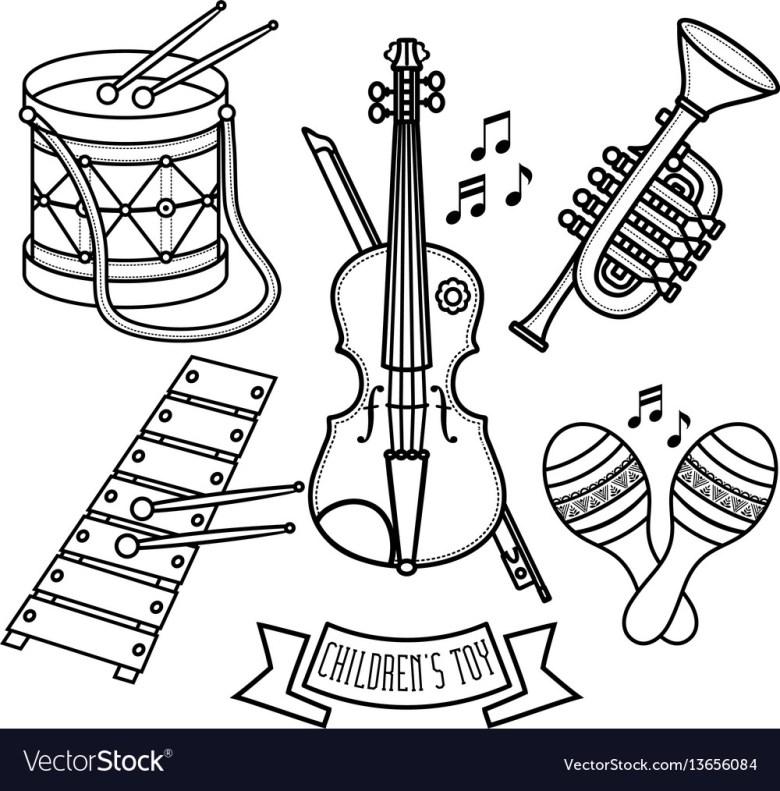 musical instruments childrens toys set violin drum