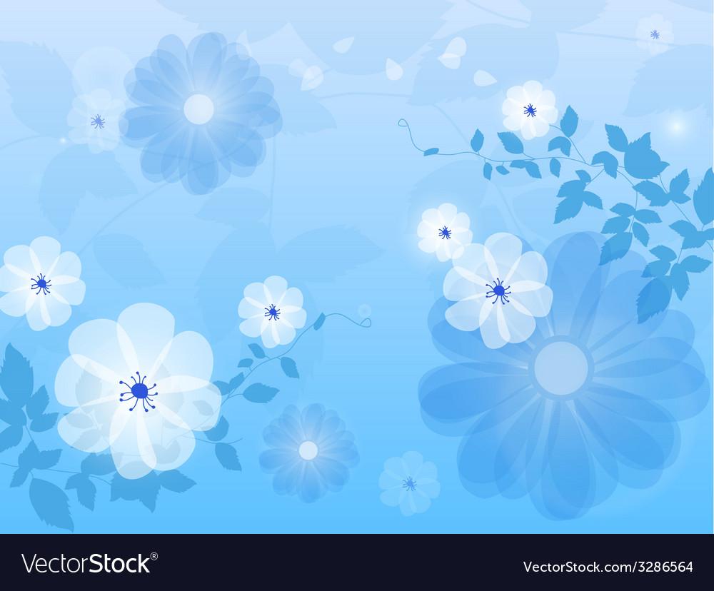 Blue Floral Background Flower Royalty Free Vector Image