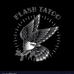 Eagle Flash Tattoo Is Simple Royalty Free Vector Image
