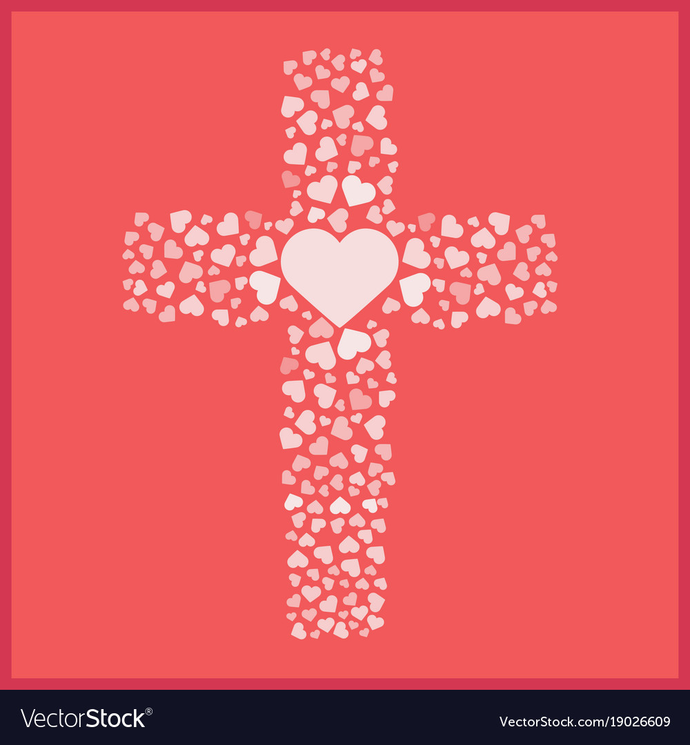 Download Jesus true love cross heart love Royalty Free Vector Image