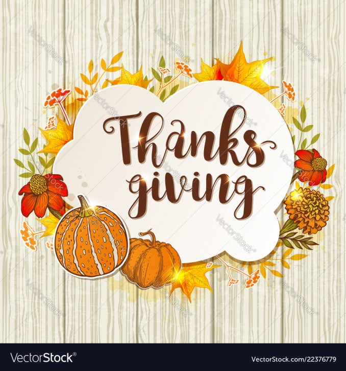 Vintage greeting card for thanksgiving day Vector Image