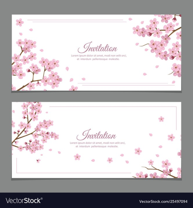 Invitation Cards Royalty Free Vector Image