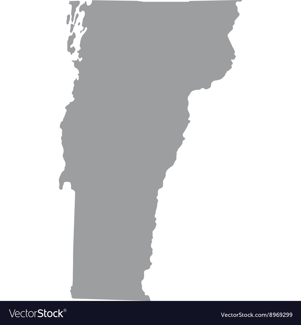 The landlocked vermont state is bordered by massachusetts in the south; Map Of The Us State Of Vermont Royalty Free Vector Image