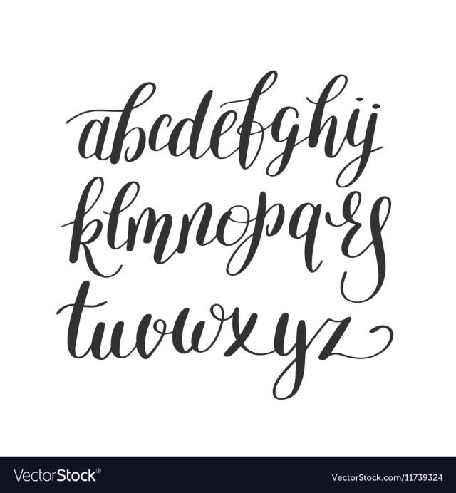 Hand Lettering Alphabet Design Vector Image