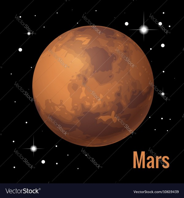 Mars planet 3d High quality Royalty Free Vector Image