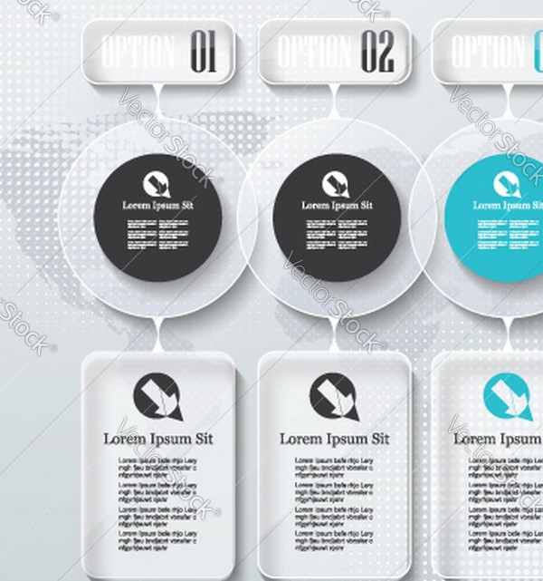 Grabs Full Pixels » Infographic design options template timeline Vector Image