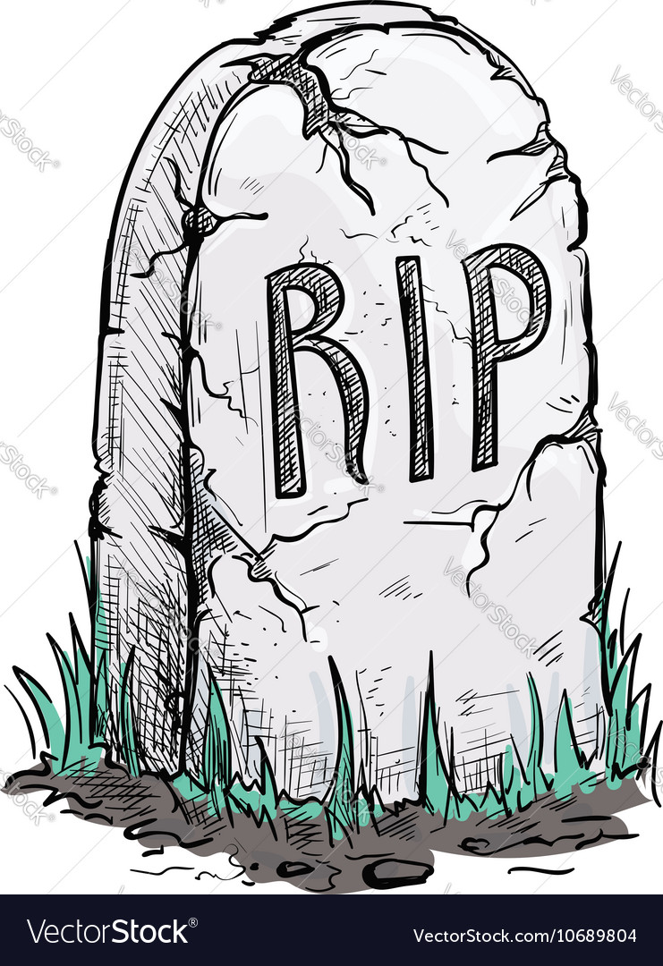 RIP tomb grave stone sketch icon Royalty Free Vector Image