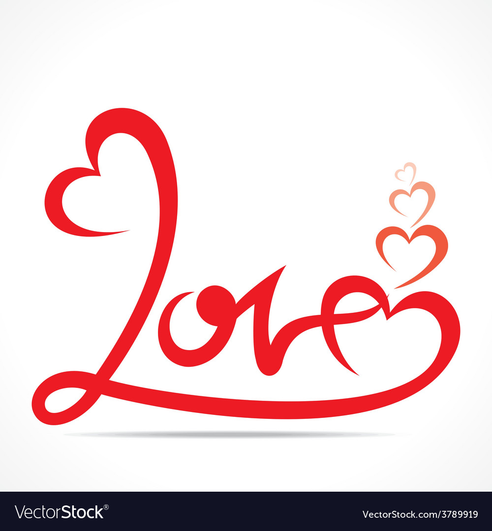 Download Creative typography of love design Royalty Free Vector Image