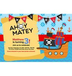 pirate invitation template vector