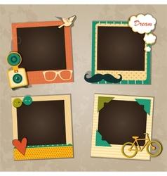 Vintage paper picture frame template for nostalgia scrapbook. Scrapbook Template Vector Images Over 70 000