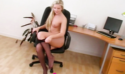 Truly Sexy Only Secretaries Blonde Takes Off Her Black Dress