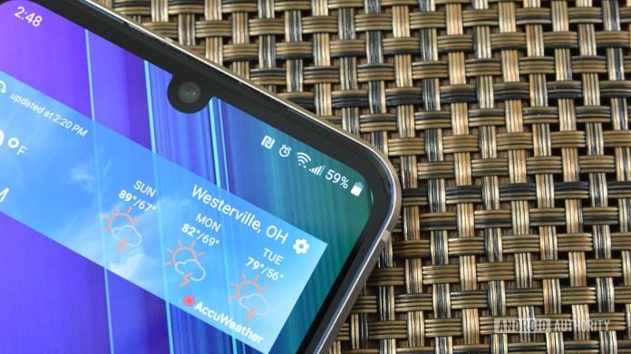 Signal bars LG V60