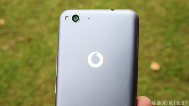 Vodafone logo on a phone - Vodafone UK network review