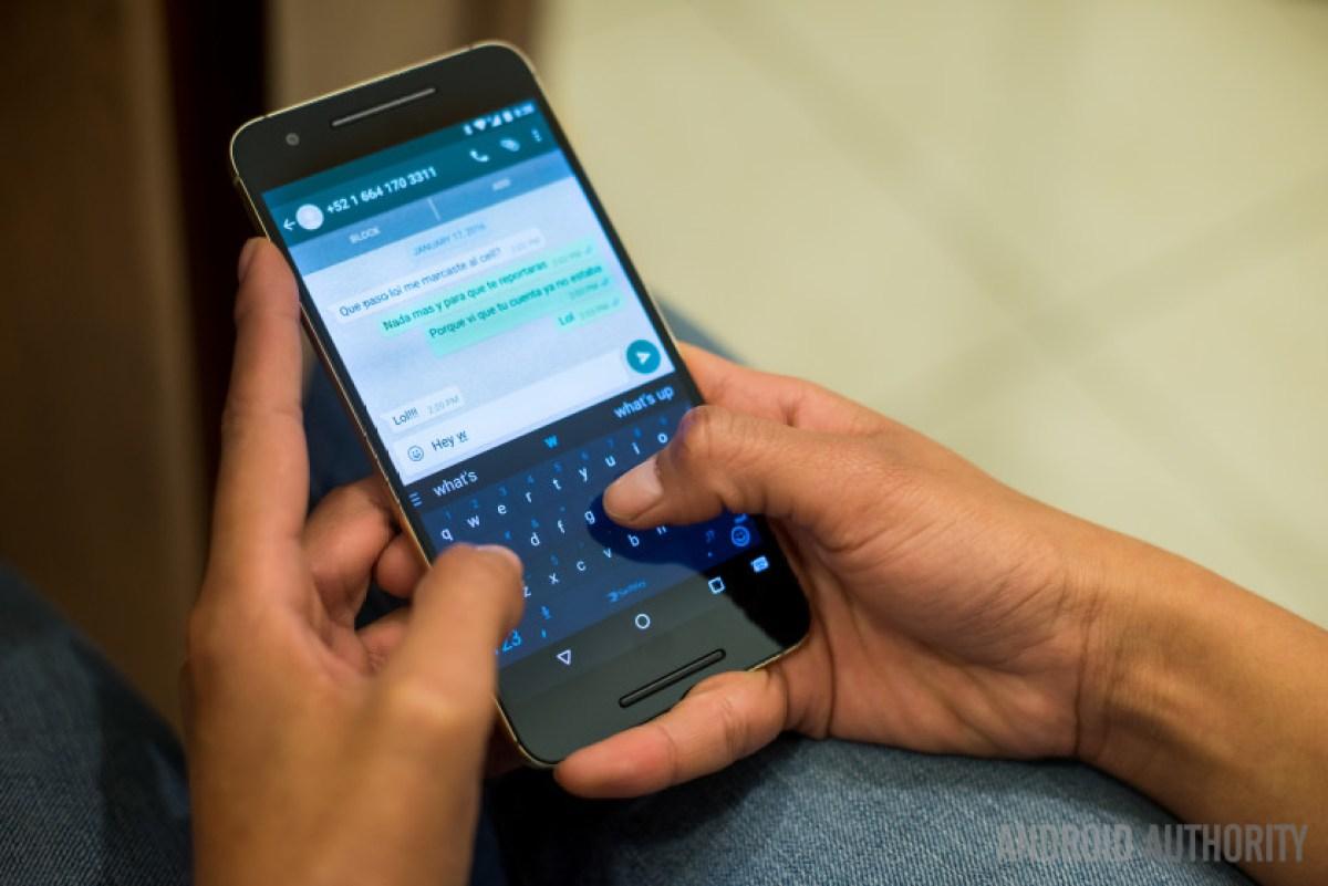 WhatsApp on a smartphone