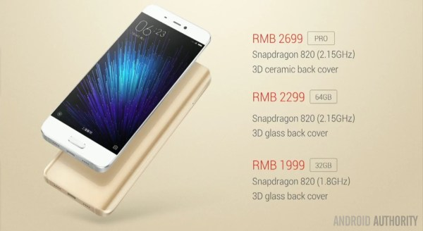 Xiaomi Mi 5 launched: amazing specs, starting from around ...