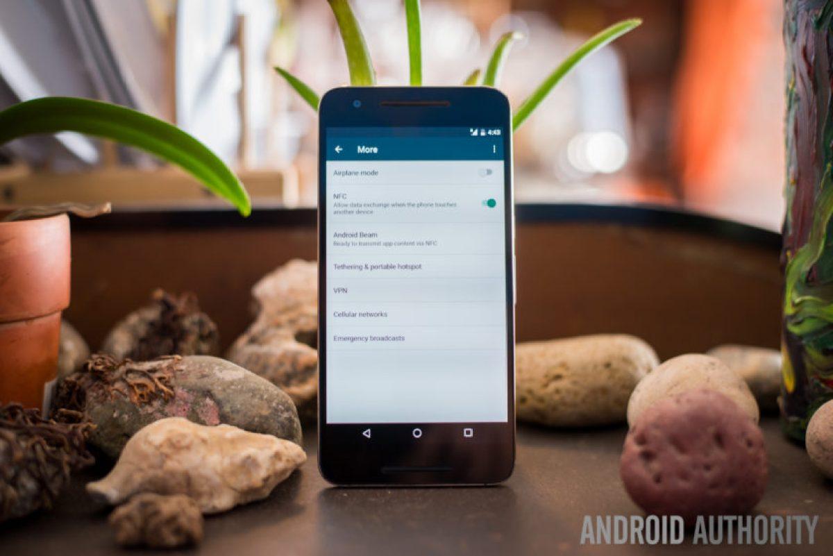 VPN option on a smartphone
