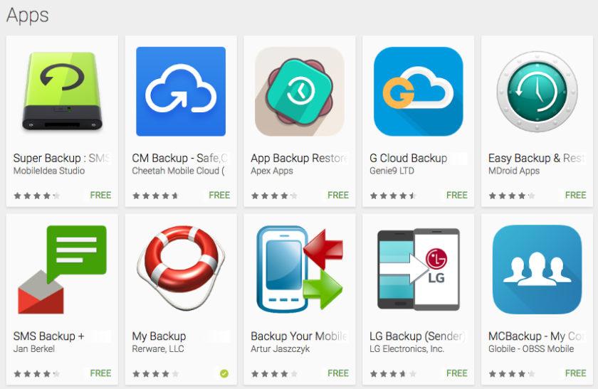 Резервное копирование приложений в Google Play Store
