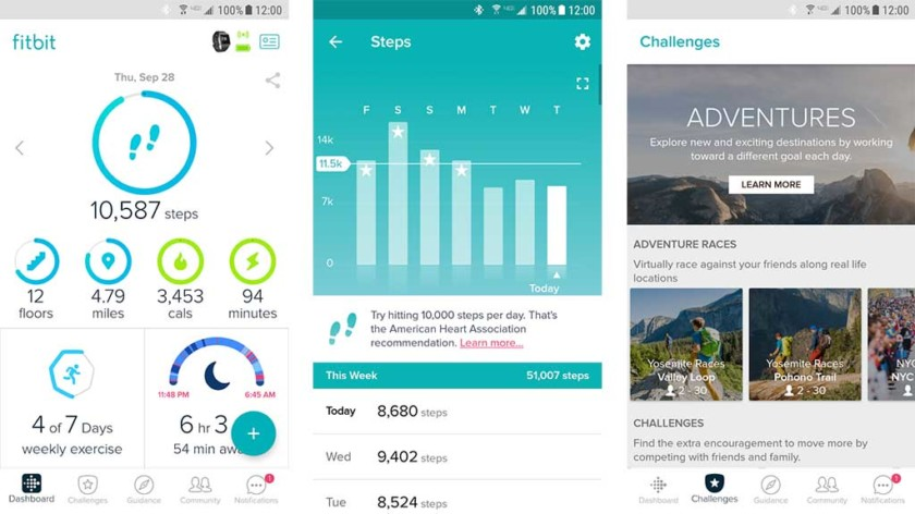 Fitness band and manufacturer apps
