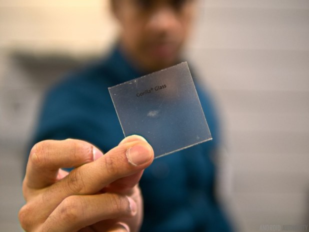 A small sheet of Corning Gorilla Glass.