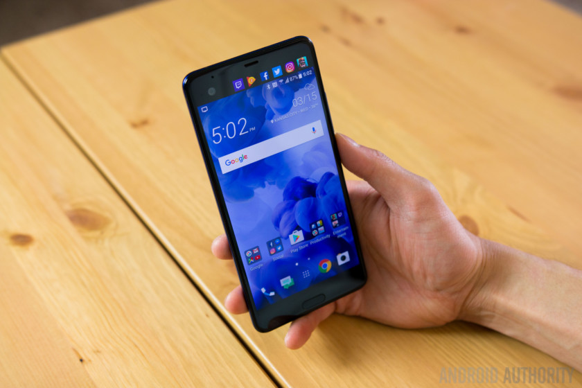 Photo of the HTC U11 held in a hand - Best HTC phones