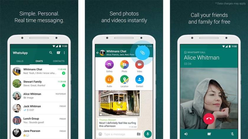 Скриншот WhatsApp для лучших приложений мессенджера для Android
