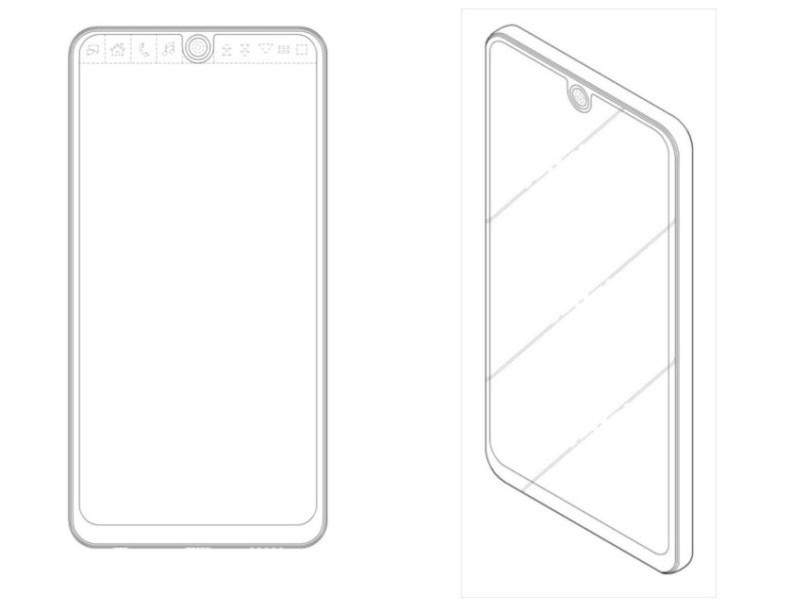 LG smartphone design patent with notch