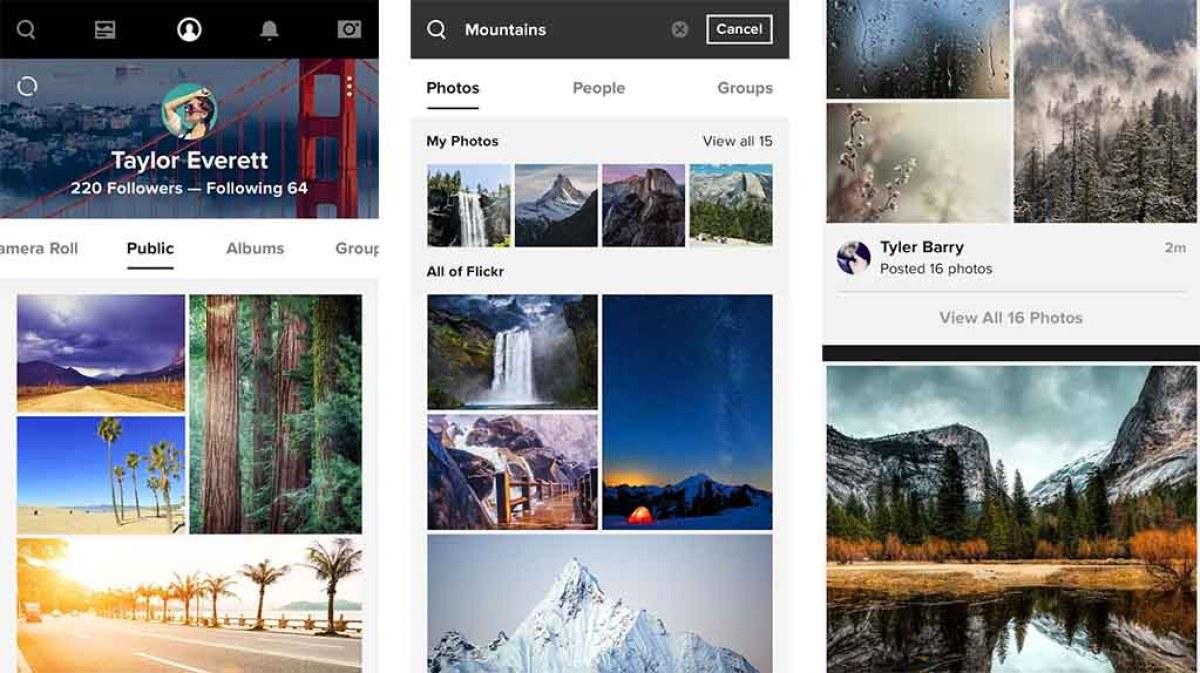 Flickr - лучшие приложения, такие как Instagram - резервное копирование вашего телефона Android