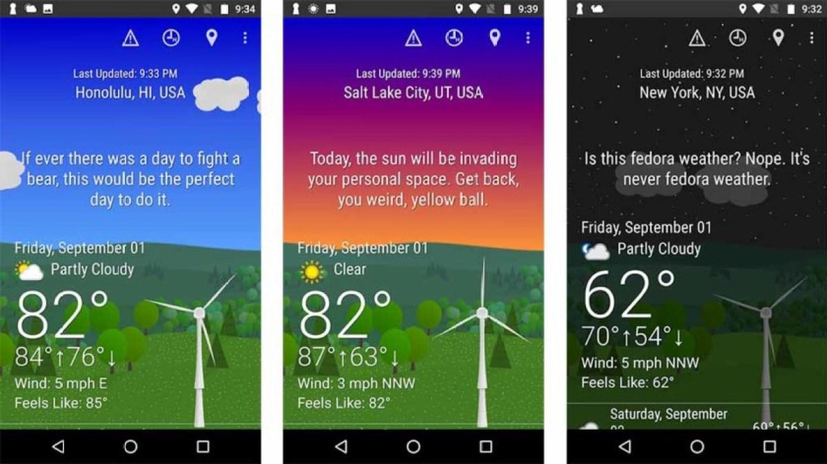 What The Forecast - одно из лучших погодных приложений и погодных виджетов для Android