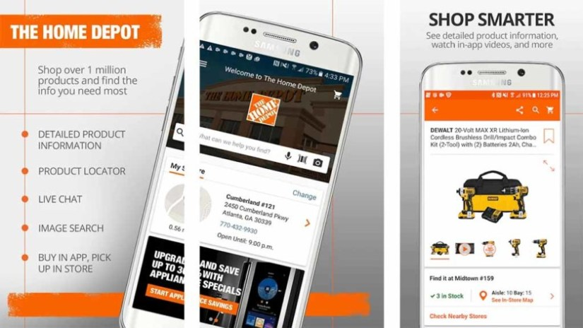 Home Depot is one of the best kitchen design apps for android