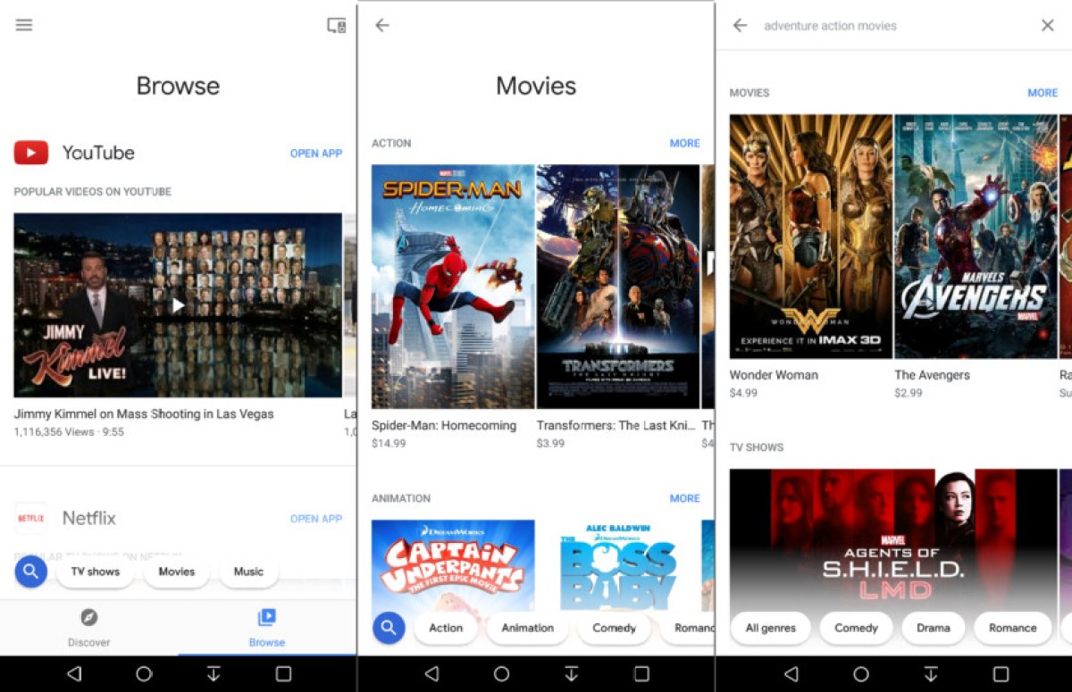 Chromecast на экранах Android