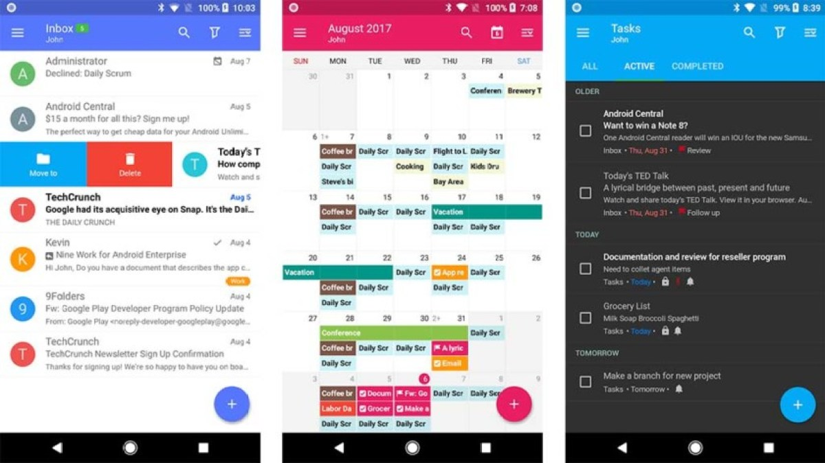 Nine - best email apps 2018
