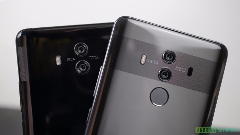 The Huawei Mate 10 and Mate 10 Pro.