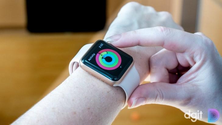 apple watch series 3 on wrist