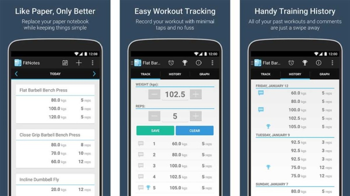 FitNotes is one of the best fitness apps for android