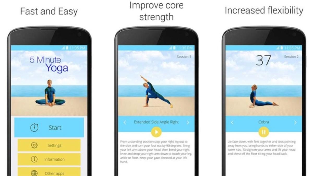 5 минут йоги является одним из лучших приложений йоги для Android