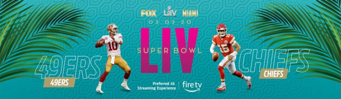 Super Bowl LIV FOX banner