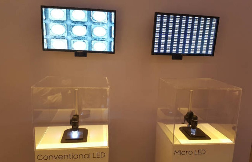 MicroLED vs conventional LED
