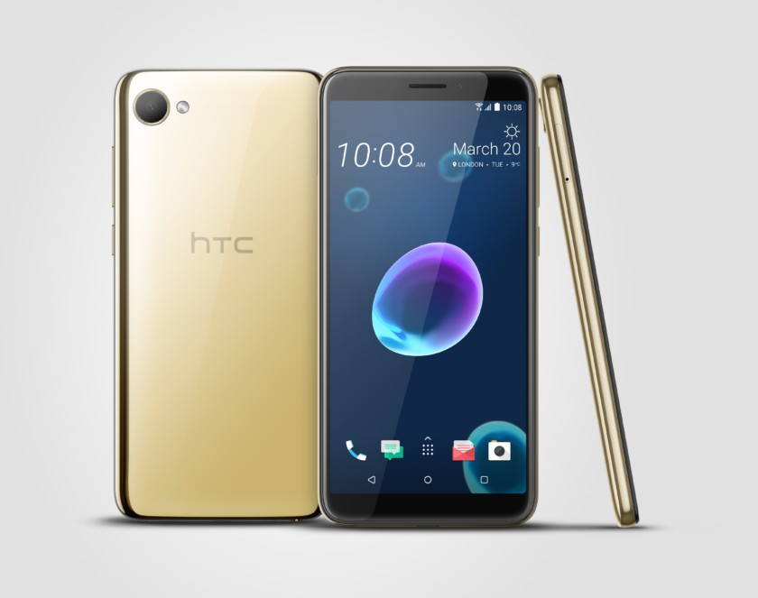 Photo of the gold HTC Desire 12 - Best budget HTC phone