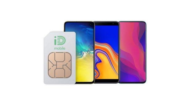 iD Mobile logo on SIM - best UK mobile networks