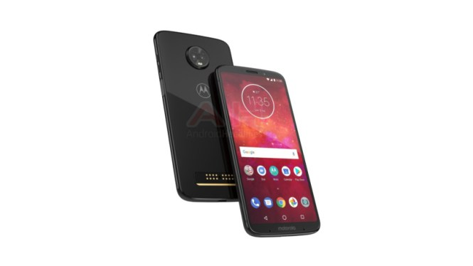 An apparent Moto Z3 Play render.