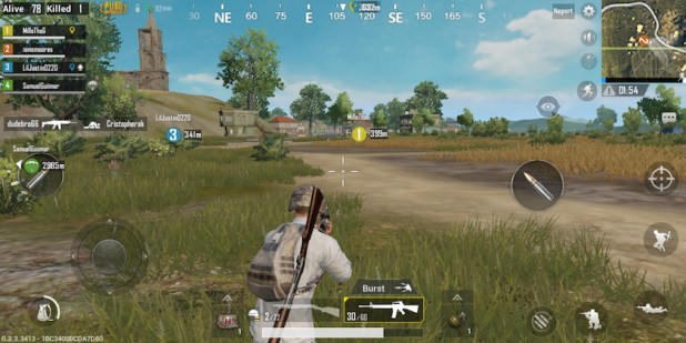 PUBG mobile gameplay hud