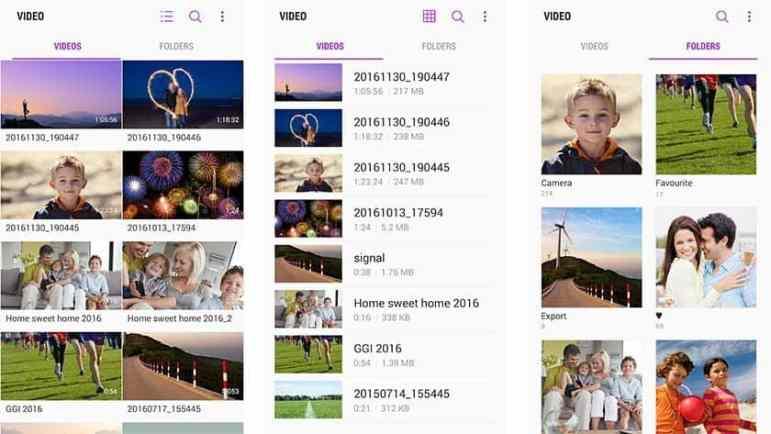 Pemutar video stok perangkat Anda