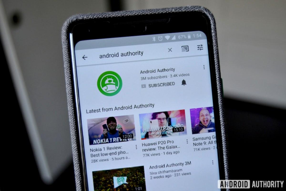 Канал Android Authority на YouTube - как настроить канал на YouTube