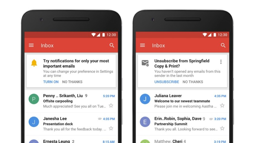 Google Gmail priority notifications - new gmail