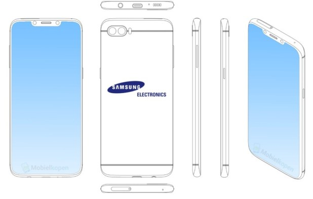 Samsung display notch phone patent